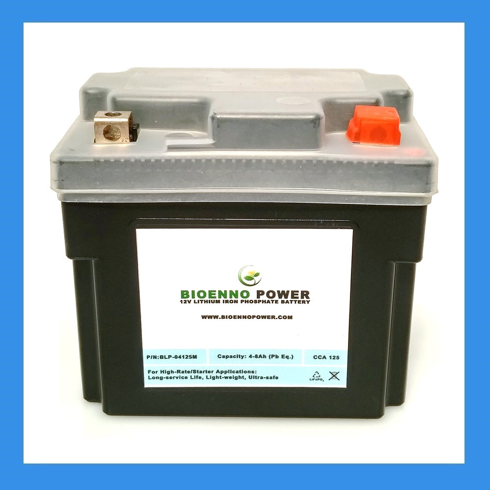 12V, 125 CCA LFP Starter Battery, (ABS, BLP-04125M)