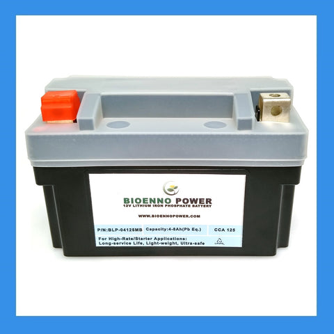 12V, 125 CCA LFP Starter Battery, (ABS, BLP-04125MB)