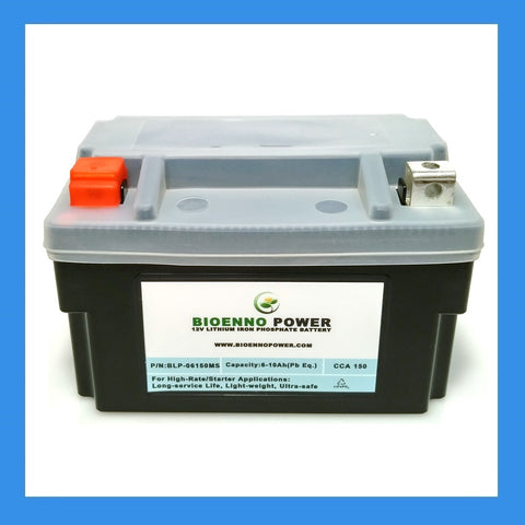 12V, 150 CCA LFP Starter Battery, (ABS, BLP-06150MS)