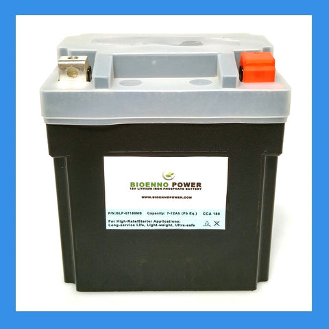 12V, 180 CCA LFP Starter Battery, (ABS, BLP-07180MB)