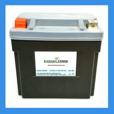 12V, 250 CCA LFP Starter Battery, (ABS, BLP-08250M)