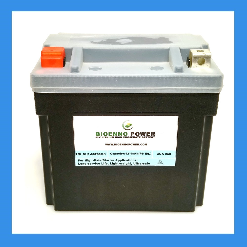 12V, 250 CCA LFP Starter Battery, (ABS, BLP-08250MS)