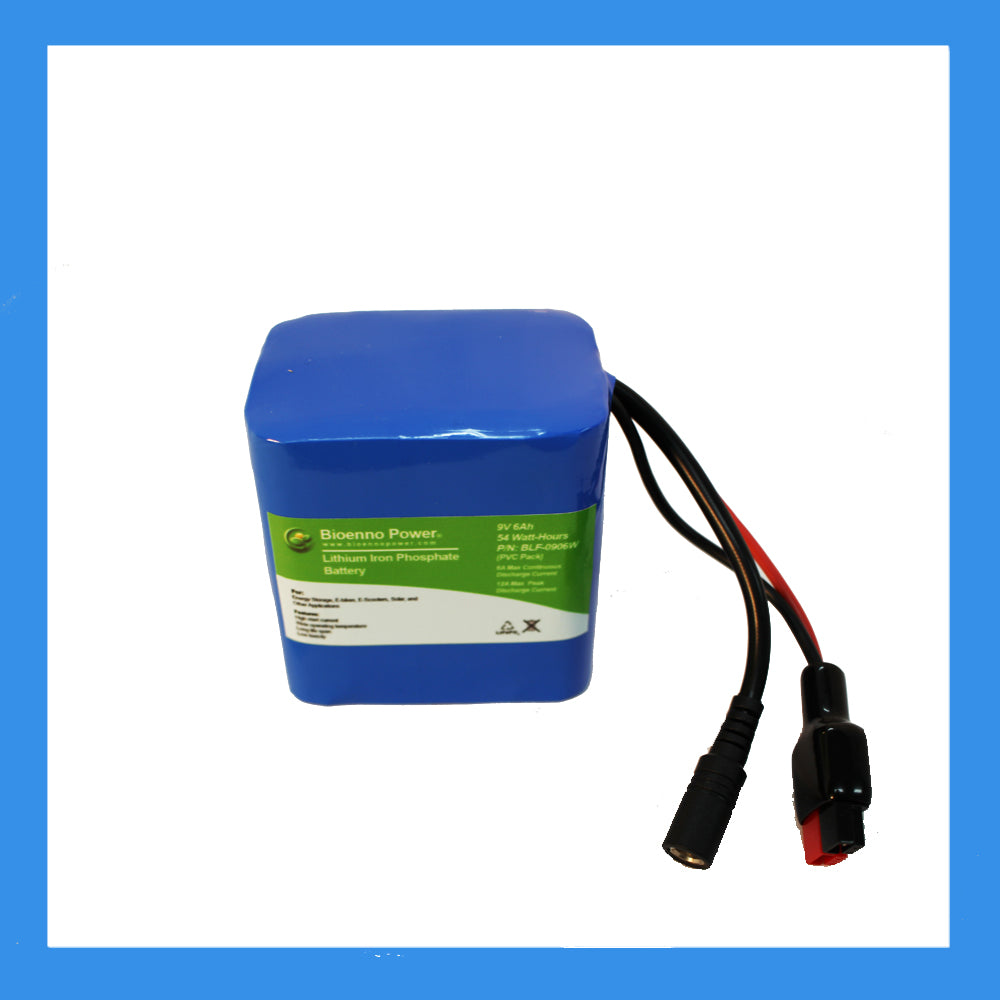 9V, 6Ah LFP Battery (PVC, BLF-0906W)