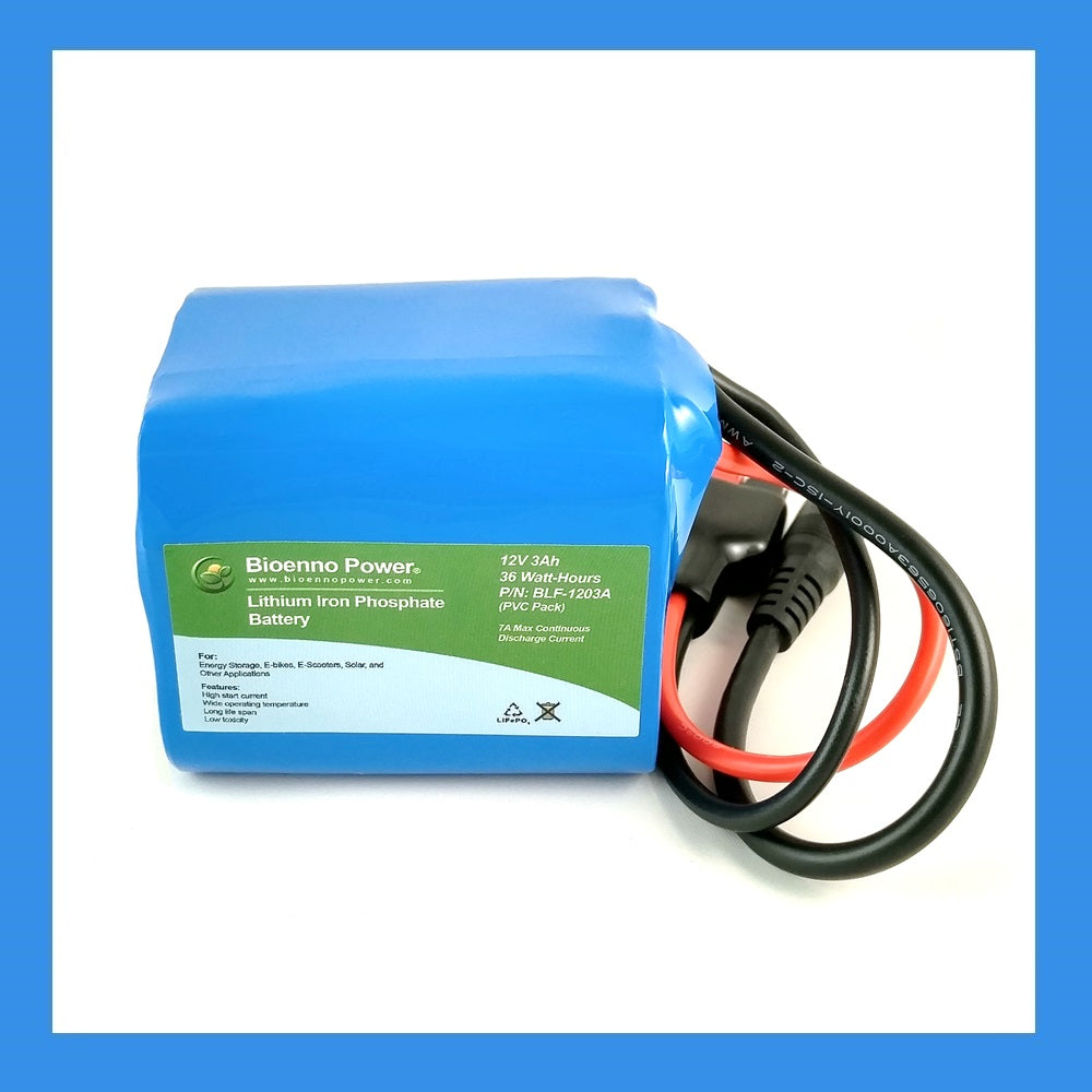 12V, 3Ah LFP Battery (PVC, BLF-1203A)