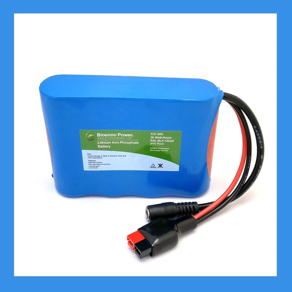 12V, 3Ah LFP Battery (PVC, BLF-1203AB)