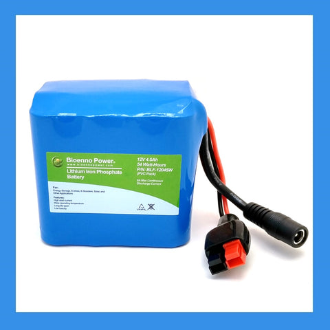 12V, 4.5Ah LFP Battery (PVC, BLF-12045W)