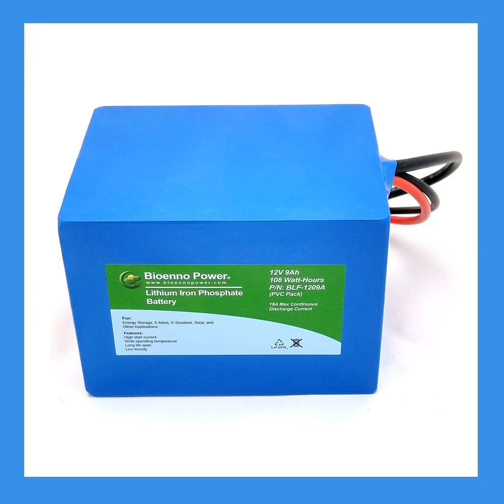 12V, 9Ah LFP Battery (PVC, BLF-1209A)