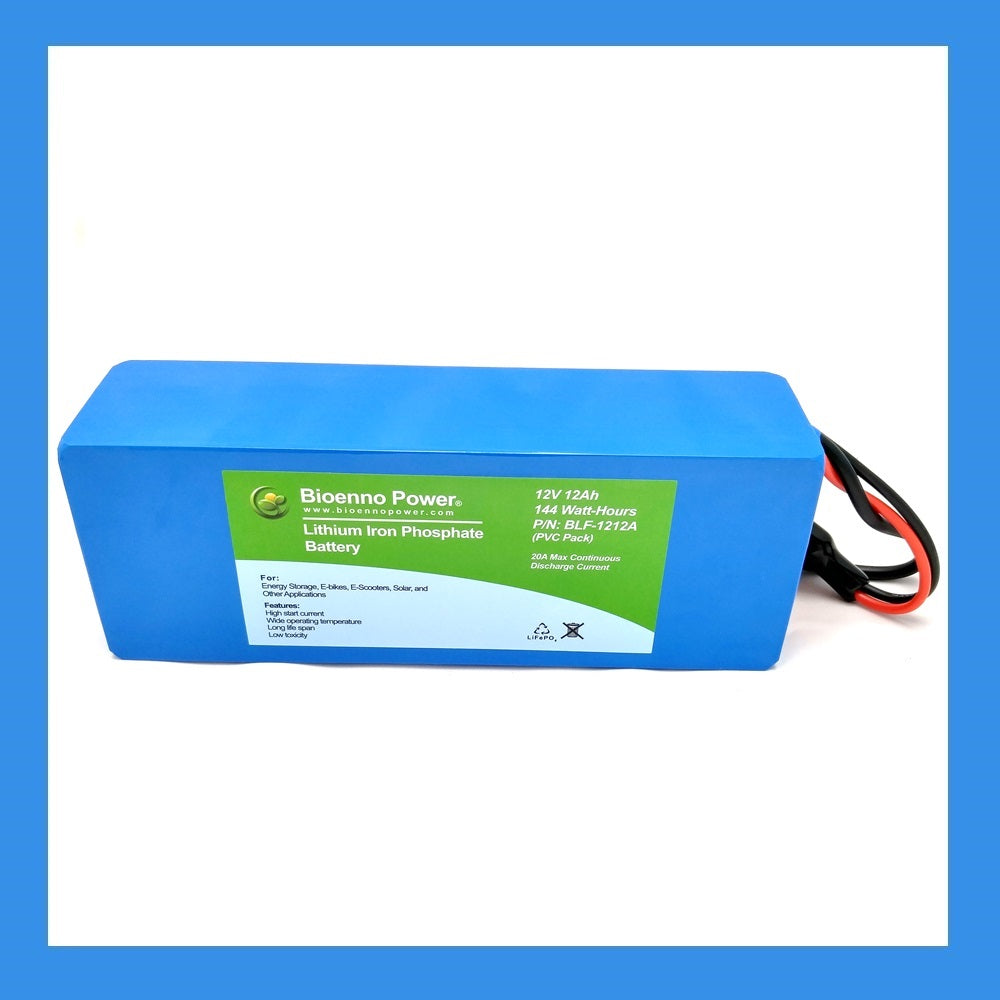 12V, 12Ah LFP Battery (PVC, BLF-1212A)