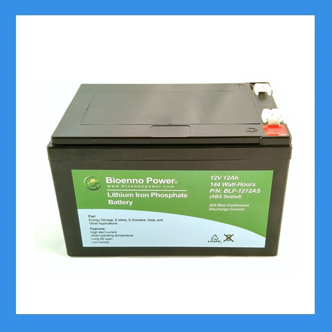 12V, 12Ah LFP Battery (ABS, BLF-1212AS)