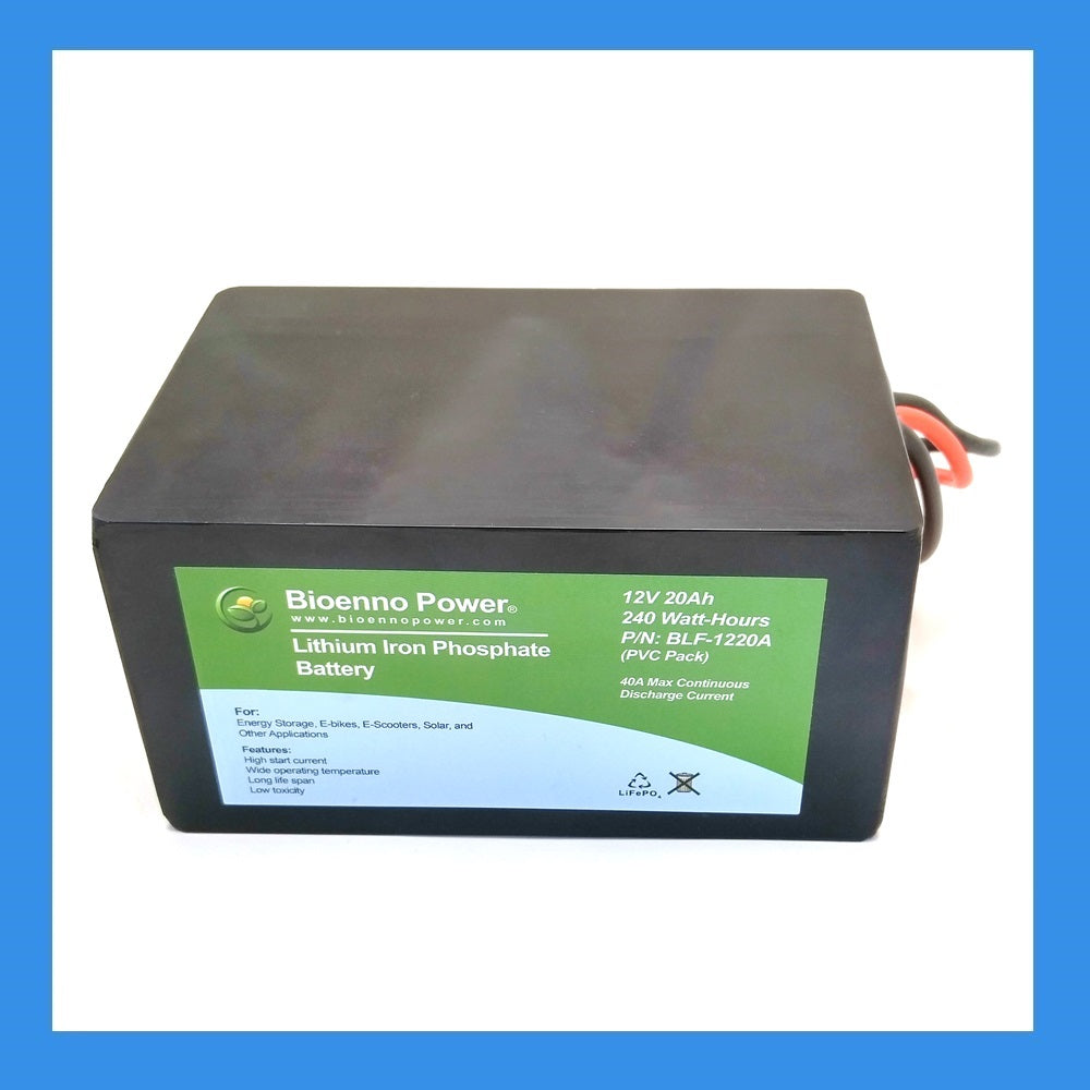 12V, 20Ah LFP Battery (PVC, BLF-1220A)