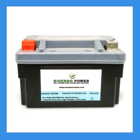 12V, 270 CCA LFP Starter Battery, (ABS, BLP-12270M)