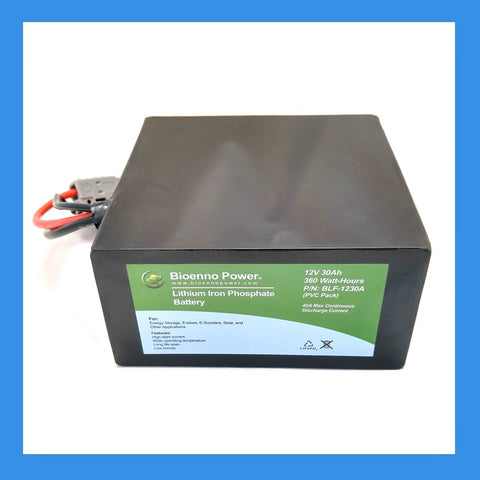 12V, 30Ah LFP Battery (PVC, BLF-1230A)