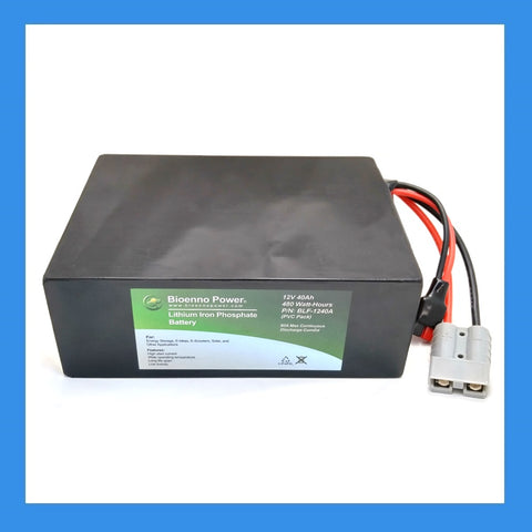 12V, 40Ah LFP Battery (PVC, BLF-1240A)