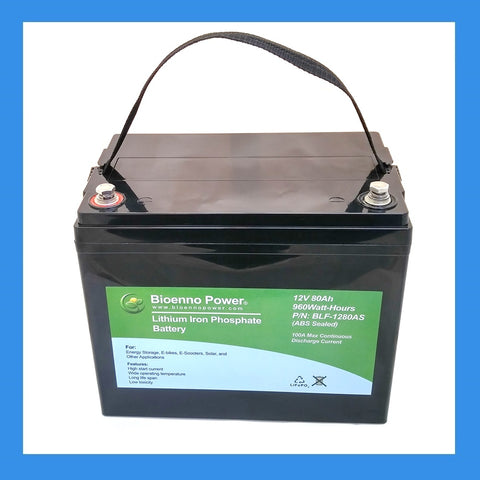 12V, 80Ah LFP Battery (ABS, BLF-1280AS)