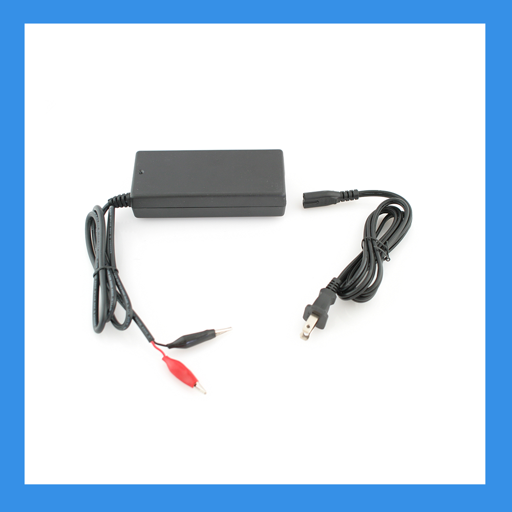 14.6V, 8A AC-to-DC Charger (Alligator) for 12V LiFePO4 Batteries (BPC-1508C)