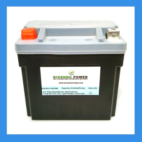 12V, 375 CCA LFP Starter Battery, (ABS, BLP-16375M)
