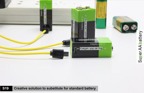9V AA USB LI-BATTERY
