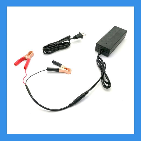 14.6V, 6A AC-to-DC Charger (Alligator Clips) for 12V LiFePO4 Batteries (BPC-1506C)