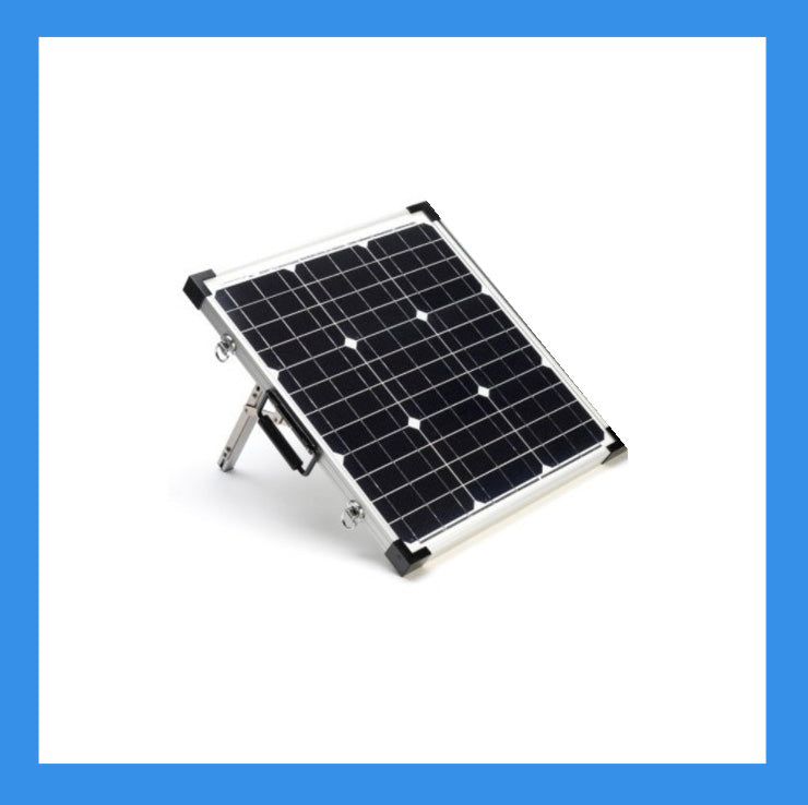 40 Watt Solar Panel for Charging Power Packs + Free Padded Case (BSP-40)