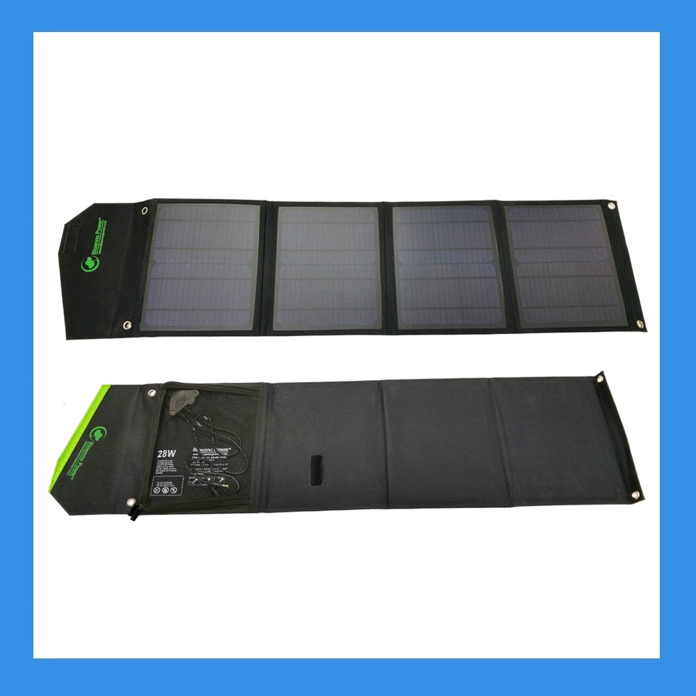 28 Watt Foldable Solar Panel for Charging Power Packs (BSP-28)