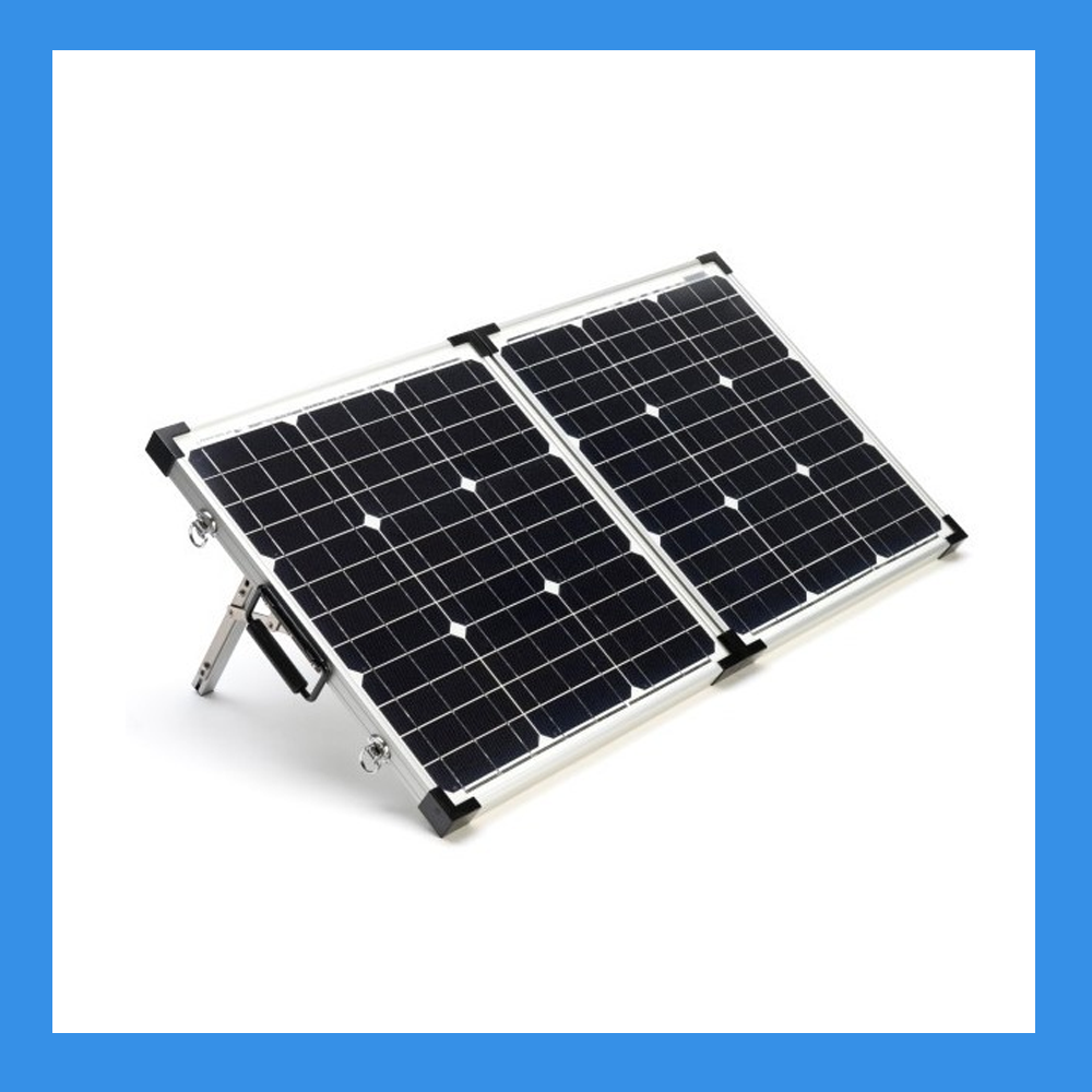 60 Watt Foldable Solar Panel for Charging Power Packs + Free Padded Case (BSP-60)