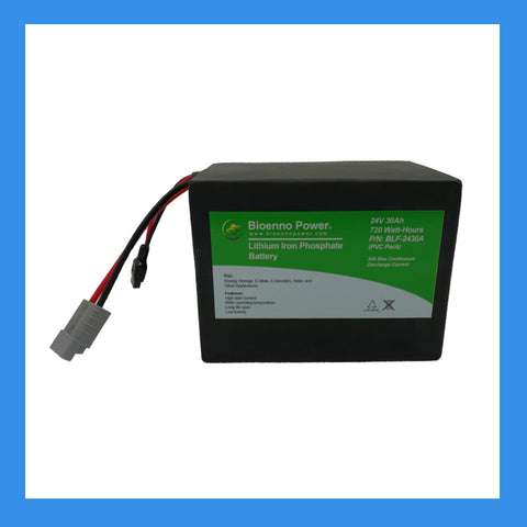 24V, 30Ah LFP Battery (PVC, BLF-2430A)