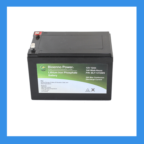12V, 12Ah LFP Battery (ABS, BLF-1212WS)