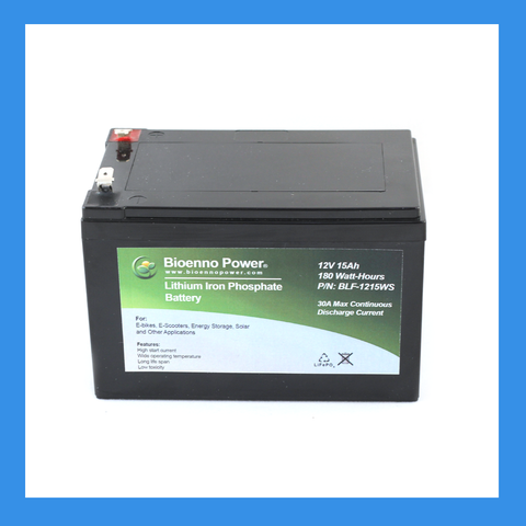 12V, 15Ah LFP Battery (ABS, BLF-1215WS)