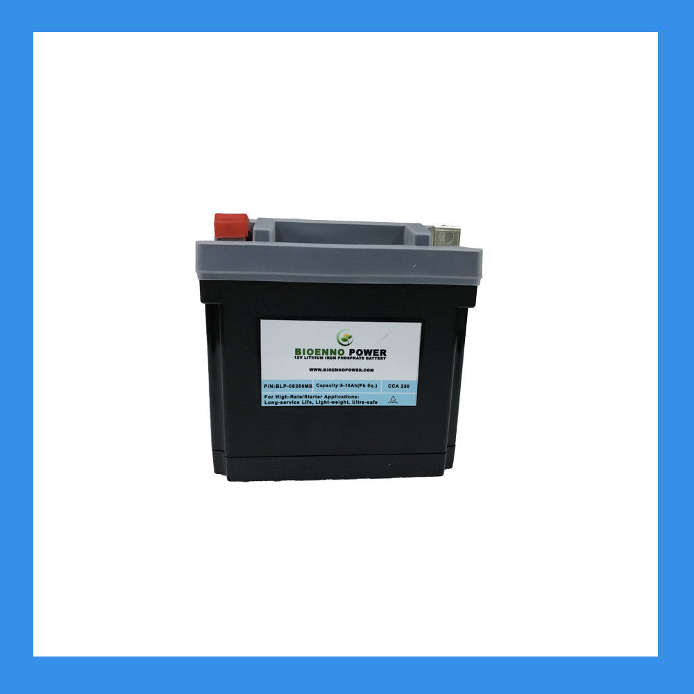 12V, 250 CCA LFP Starter Battery, (ABS, BLP-08250MB)