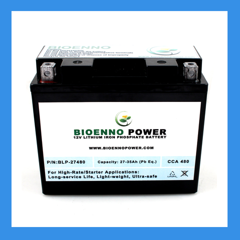 12V, 480 CCA LFP Starter Battery (ABS, BLP-27480)