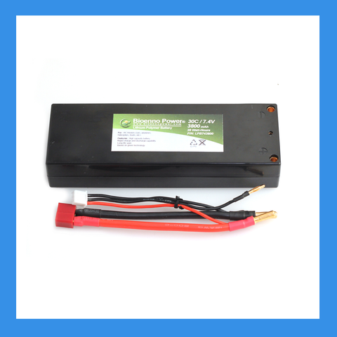 30C/50C, 7.4V (2S), 3800 mAh LiPo Battery (Hard Case, BLP-743800H)