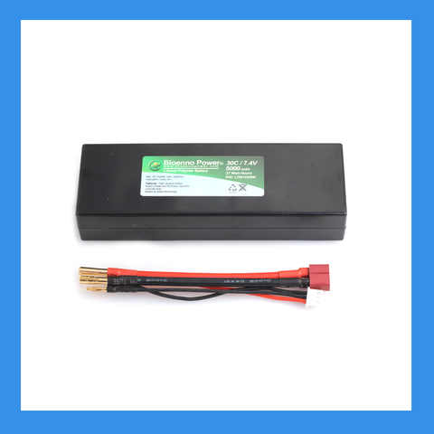 30C/50C, 7.4V (2S), 5000 mAh LiPo Battery (Hard Case, BLP-745000H)