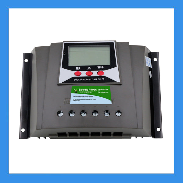 D381 LCD 50A 2 USB Energy Charge Controller PWM Solar Charge DC12V//24V
