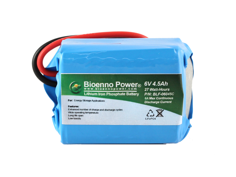 6V, 4.5Ah LFP Battery (PVC, BLF-06045C)