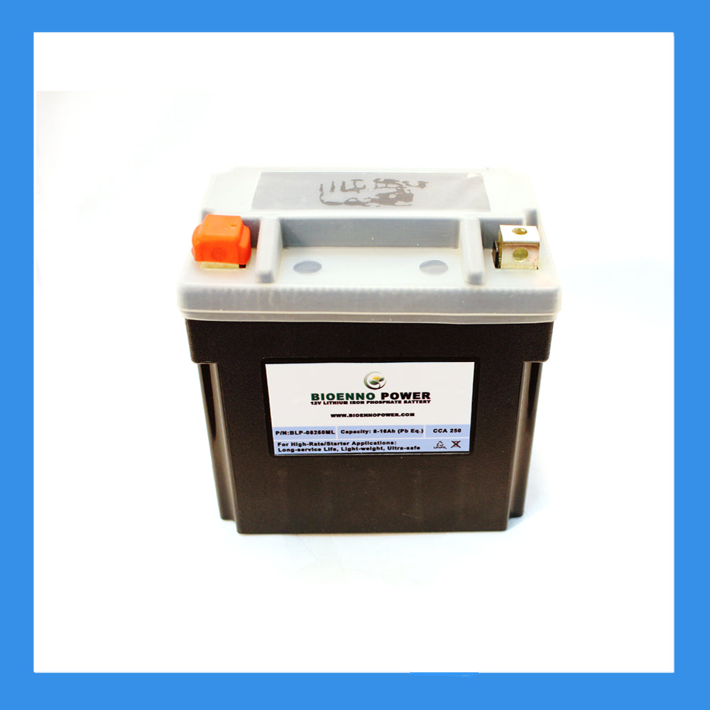 12V, 250 CCA LFP Starter Battery, (ABS, BLP-08250ML)