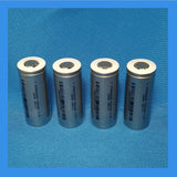 26650, 3.2V, 3300 mAh, 2C LFP Cells (4 pcs)