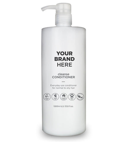 Private Label Cleanse Conditioner - White Bottle - 1000ml / 33.8 fl.oz.