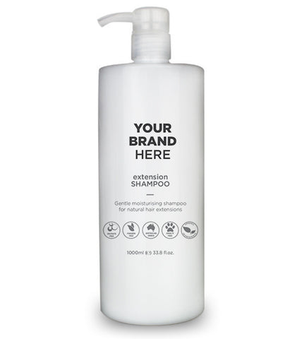 Private Label Extension Shampoo - White bottle - 1,000ml / 33.8 fl.oz.
