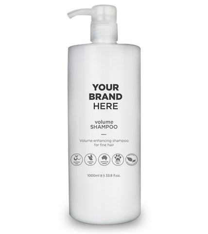 Private Label Volume Shampoo - White Bottle - 1,000ml / 33.8 fl.oz.