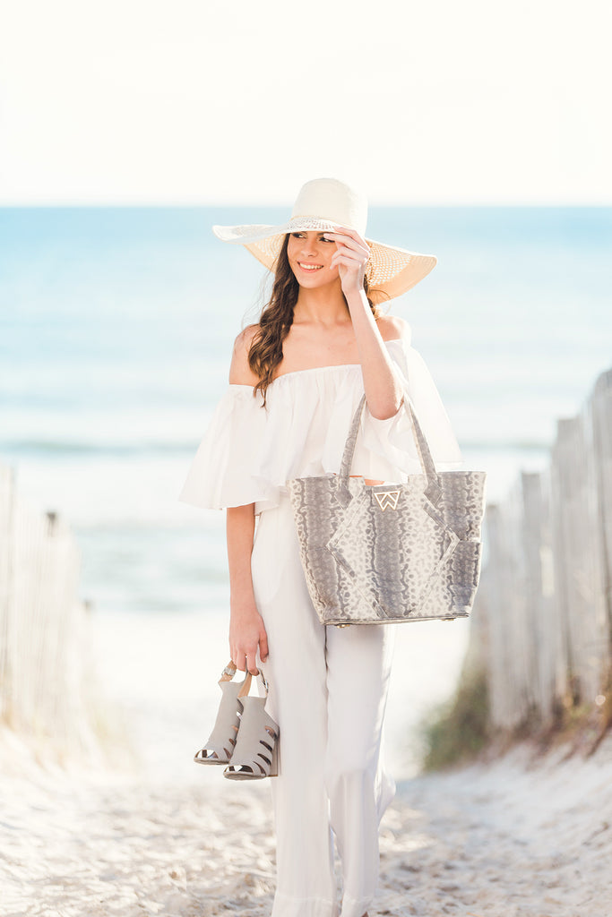 Paint the Town Tote in Barbados Bubbles