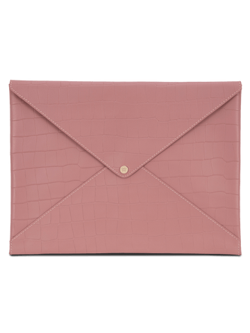 Large All The Things Envelope in Rose Croco