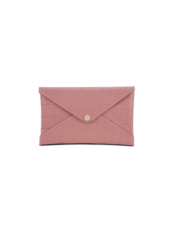 Small All The Things Envelope in Rose Croco