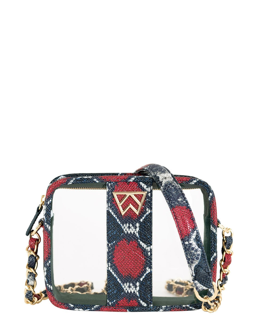 Clear Bundle (with Pouch) in Red/Navy