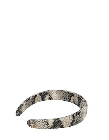 Best Hair Day Headband in Black/Ivory Python