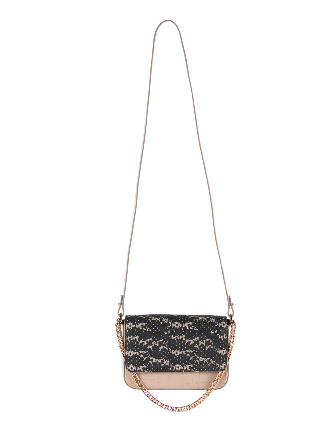 Kiss Kiss Crossbody in Onyx & Almond Saffie