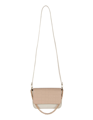 Kiss Kiss Crossbody in Almond Croco