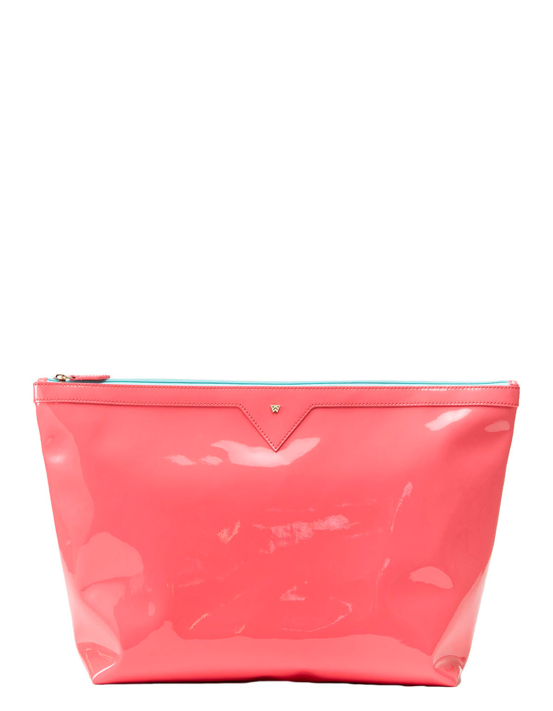 Bring on the Beach Bag in Coral/Clear