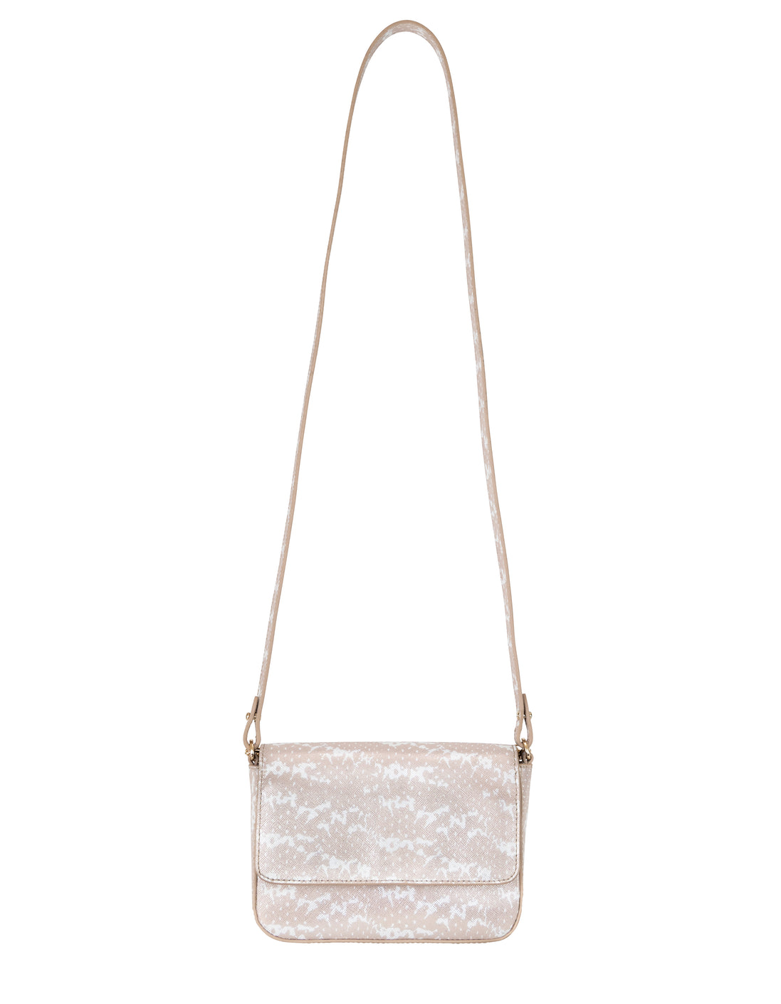 Kiss Kiss Crossbody in Blush & Pearl Saffie