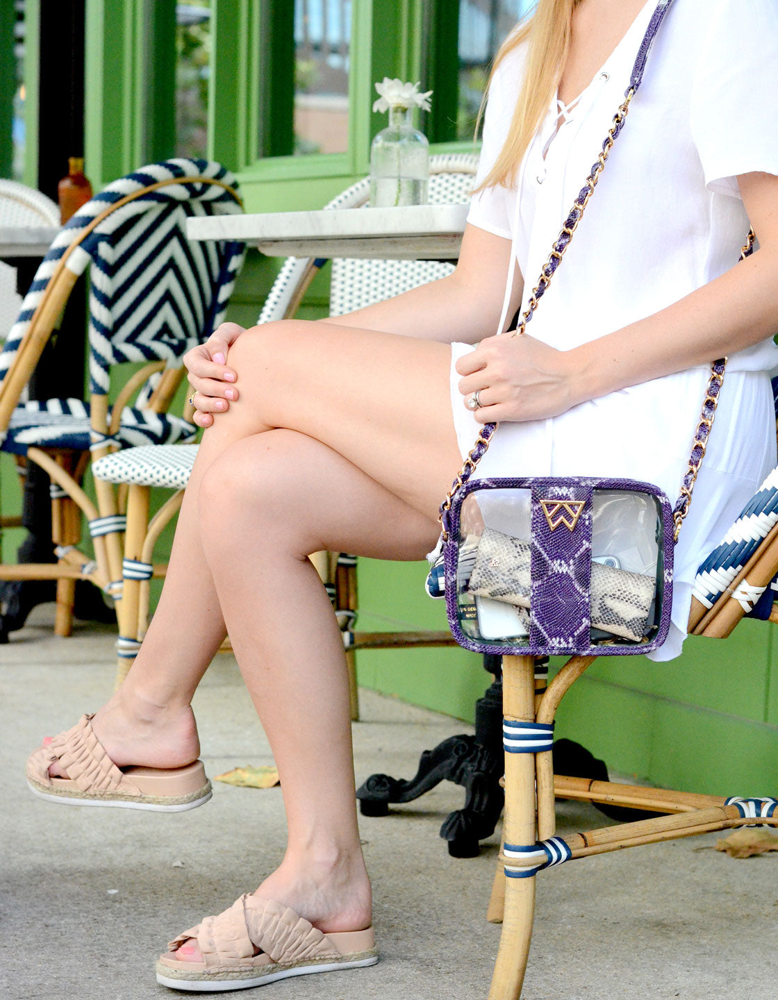 Clear Mingle Mingle Mini in Purple Multi Python