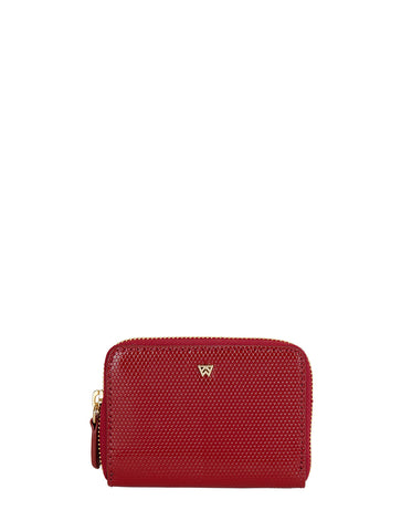 Money Maker Mini Wallet in Red Haute